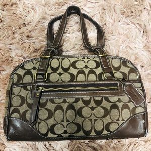 Coach Purse with Gold Coach lining